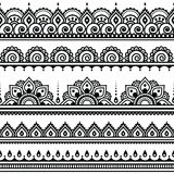 Mehndi, Indian Henna tattoo round pattern Royalty Free Stock Photography