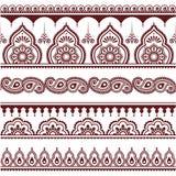 Mehndi, Indian Henna tattoo seamless pattern, design elements Royalty Free Stock Image
