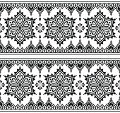 Mehndi, Indian Henna tattoo seamless pattern, design elements Royalty Free Stock Photography