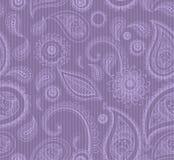 Mehndi lilac seamless pattern on stripped background, male fashi Royalty Free Stock Photo
