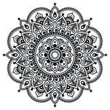 Mehndi, modelo indio del tatuaje de la alheña o fondo Imágenes de archivo libres de regalías