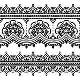 Mehndi, modelo indio del tatuaje de la alheña o fondo Fotos de archivo