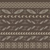 Set of seamless vintage borders. Traditional East style, ornamental floral elements. Stock Photography