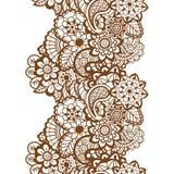Mehndi ribbon. Paisley design. Stock Photos