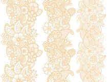 Mehndi ribbons. Paisley design. Stock Image