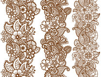Mehndi ribbons. Paisley design. Royalty Free Stock Photos