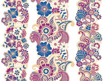 Mehndi ribbons. Paisley design. Royalty Free Stock Photo
