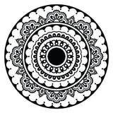 Mehndi, rundes Muster der indischen Hennastrauchblumentätowierung Stockfotos