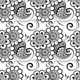 Mehndi seamless pattern. Seamless asian ethnic floral pattern. Mehndi design. Vector illustration Stock Photo