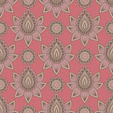 Mehndi seamless pattern. Seamless asian ethnic floral pattern. Mehndi design. Vector illustration Royalty Free Stock Photography