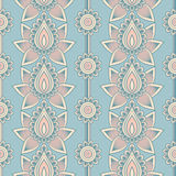 Mehndi seamless pattern. Seamless asian ethnic floral pattern. Mehndi design. Vector illustration Royalty Free Stock Photo