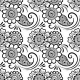 Mehndi seamless pattern. Seamless asian ethnic floral pattern. Mehndi design. Vector illustration Stock Image