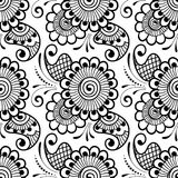 Mehndi seamless pattern. Seamless asian ethnic floral pattern. Mehndi design. Vector illustration Royalty Free Stock Image