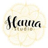 Mehndi studio logo Stock Photos