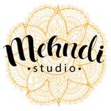 Mehndi studio logo Stock Images