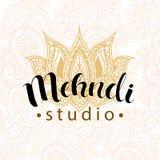 Mehndi studio logo Royalty Free Stock Image