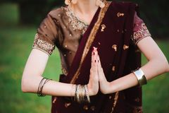 Mehndi tattoo. Woman Hands with black henna tattoos. India national traditions. Mehndi tattoo. Woman Hands with black henna tattoos. India national traditions stock photos