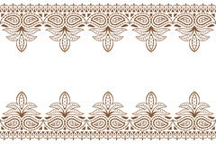Mehndiachtergrond Indisch de hennaornament van het borduurwerkontwerp wuth Huwelijk mackdrop royalty-vrije illustratie