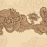 Mehndy blommamodell vektor illustrationer