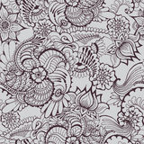 Mehndy blommamodell stock illustrationer