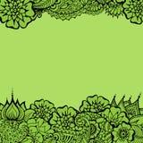 Mehndy blommar kortet stock illustrationer