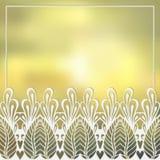 Mehndy blommar kortet royaltyfri illustrationer