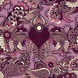 Mehndy flowers pattern Stock Photography