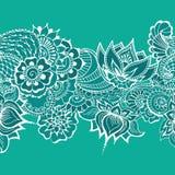 Mehndy kwiatów wzór Zdjęcia Stock