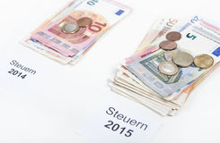 Mehr besteuert 2015 Stockfoto