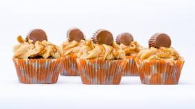 Mehr kleine Kuchen mit Mani Stockbild