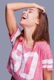 Mehr lachen längeres Leben Lizenzfreies Stockfoto