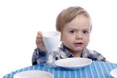 Mehr Milch bitte Stockfoto