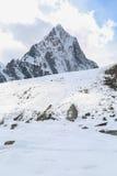 Mehra peak summit beside of everest Stock Image