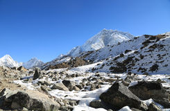 Mehra peak summit beside of everest Stock Photo