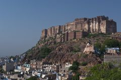 Mehrangar Fort in Jodhpur Stock Image