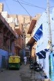 Mehrangarh堡垒和乔德普尔城市 Rajastan,印度,第5, 1月 免版税库存照片