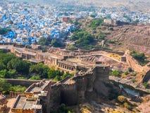 Mehrangarh堡垒和Sun City 库存图片