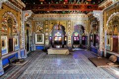 Mehrangarh堡垒在乔德普尔城,拉贾斯坦,其中一个最大的堡垒在印度 库存图片