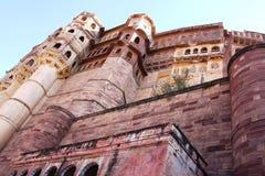 Mehrangarh堡垒在乔德普尔城 免版税库存图片