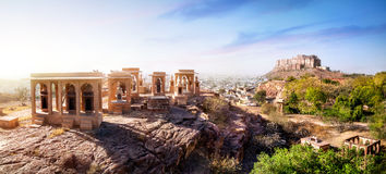 Mehrangarh堡垒在印度 免版税库存照片