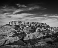 Mehrangarh堡垒,乔德普尔城,拉贾斯坦,印度 免版税库存照片