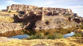 Mehrangarh堡垒 印度乔德普尔城 库存照片