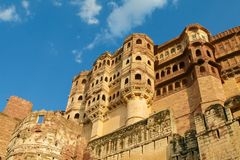 Mehrangarh ή οχυρό Mehran στο Jodhpur, Rajasthan, Ινδία στοκ φωτογραφίες με δικαίωμα ελεύθερης χρήσης