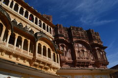 Mehrangarh Fort Buildings Stock Photo