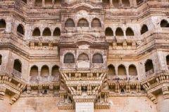 Mehrangarh fort close-up in Jodhpur, Rajasthan Stock Photos