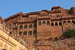 Mehrangarh fort entrance, India Royalty Free Stock Images