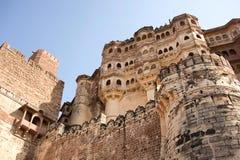 Mehrangarh Fort walls in Jodhpur, Rjasthan, India Stock Images