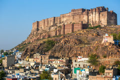 Mehrangarh fort on the hill in Jodhpur, Royalty Free Stock Photos