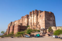 Mehrangarh fort on the hill in Jodhpur, Stock Image