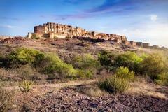 Mehrangarh fort i Indien royaltyfri bild